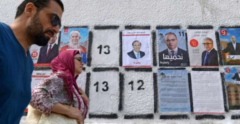 Tunisia has been praised for its democratic progress since the Arab Spring, but the process faces challenges.  By FETHI BELAID (AFP/File)