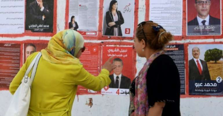 Tunisia will hold on Sunday its second free presidential election by universal suffrage since the 2011 uprising that toppled an autocratic regime.  By FETHI BELAID (AFP/File)
