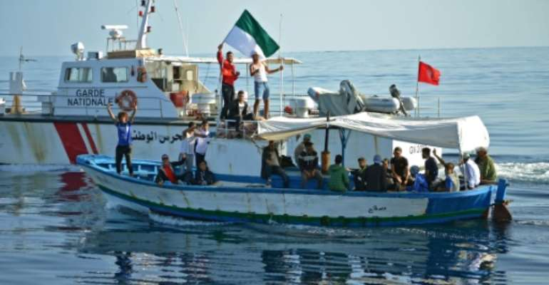 Tunisian football fans who set sail for Italy on Thursday in protest at sanctions against their club returned back home after a day at sea.  By ALI ABBES (AFP)