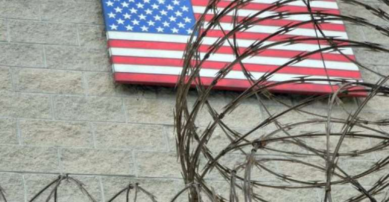 The US flag at the naval base in Guantanamo Bay, Cuba on August 7, 2013.  By Chantal Valery (AFP/File)