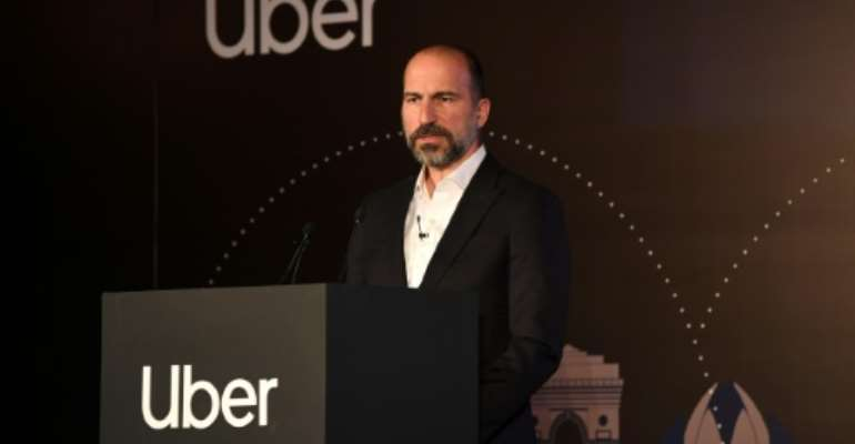 Uber CEO Dara Khosrowshahi told a press conference in New Delhi that India was a fundamental part of the firm's expansion plans.  By Sajjad  HUSSAIN (AFP)