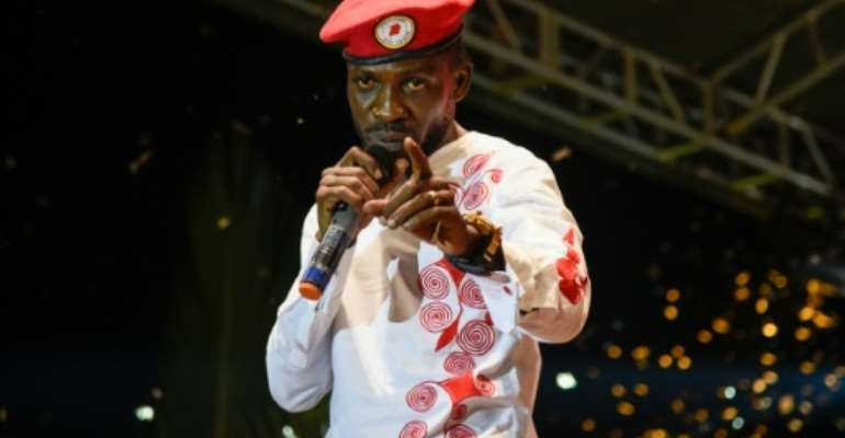 Ugandan musician-turned-politician Bobi Wine, real name Robert Kyagulanyi, had been scheduled to perform before being detained.  By Isaac KASAMANI (AFP/File)