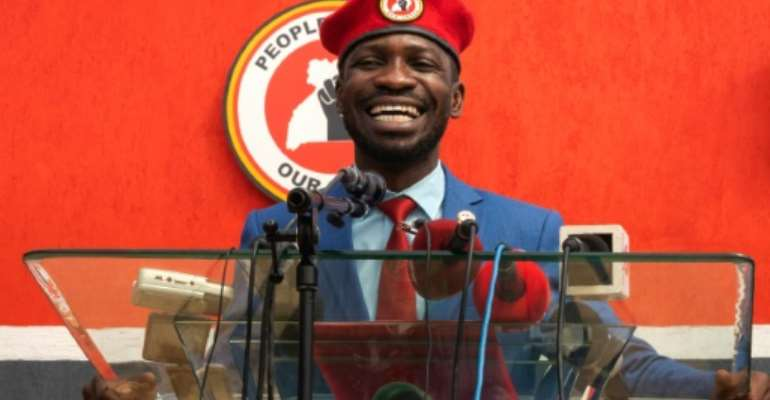 Ugandan singer-turned-politician Bobi Wine has been arrested numerous times in recent years.  By Badru KATUMBA (AFP/File)