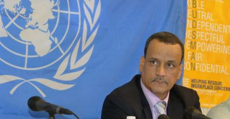 Ismail Ould Cheikh Ahmed is to take over the Yemen peace process after serving for four months as the head of the UN Ebola mission in Ghana.  By Zoom Dosso (AFP/File)