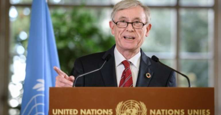 UN envoy Horst Koehler, a former German president, is leading a diplomatic push to end the Western Sahara conflict.  By Fabrice COFFRINI (AFP/File)