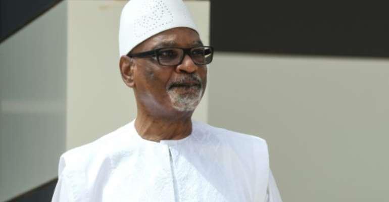Under pressure: Malian President Ibrahim Boubacar Keita.  By Ludovic MARIN (POOL/AFP)