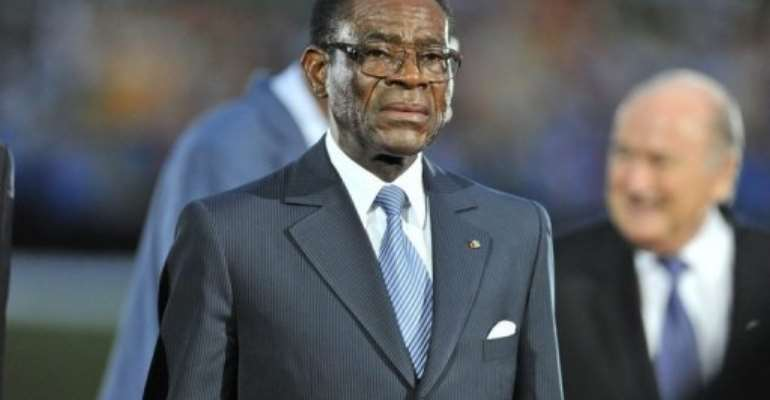 Teodoro Obiang Nguema.  By Issouf Sanogo (AFP/File)