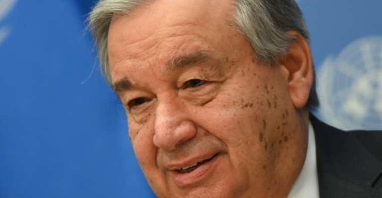 United Nations Secretary-General Antonio Guterres again called for all foreign troops and mercenaries to leave Libya.  By Angela Weiss (AFP/File)
