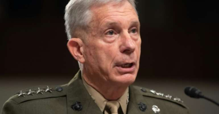 US Africa Command head, General Thomas Waldhauser, testifies during a US Senate Armed Services Committee.  By SAUL LOEB (AFP)