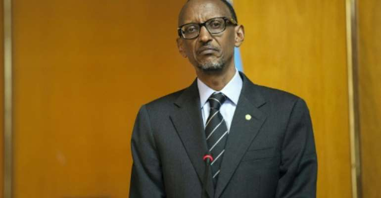 Rwandan President Paul Kagame said on January 1, 2016 he would run for a third term in office in 2017 in line with a constitution amendment which won overwhelming backing in a referendum.  By Zacharias Abubeker (AFP/File)