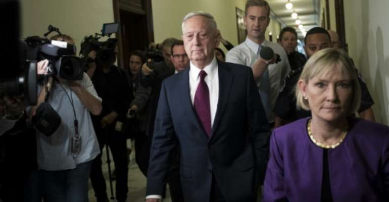 US Defense Secretary Jim Mattis met with Senators John McCain and Lindsey Graham after the Republican lawmakers expressed frustration about the lack of details of an ambush in Niger that left four US soldiers dead.  By Drew Angerer (GETTY IMAGES NORTH AMERICA/AFP)