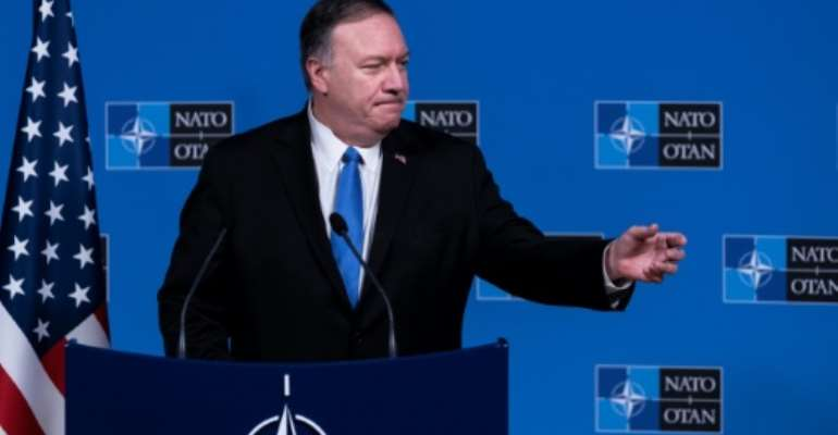 US Secretary of State Mike Pompeo, seen here in Brussels in November 2019, will visit Morocco and Portugal.  By Kenzo TRIBOUILLARD (AFP/File)