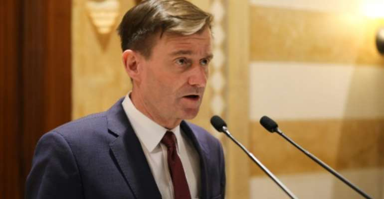 US Under Secretary of State for Political Affairs David Hale, pictured in December 2019, underscored that compensation for the victims of terrorism remains a US priority.  By ANWAR AMRO (AFP/File)