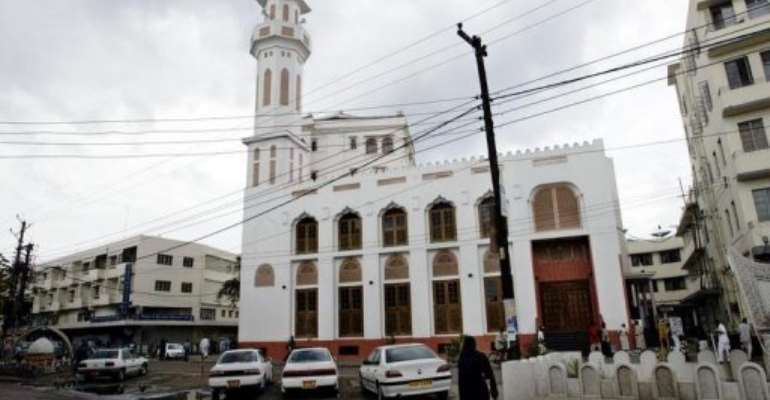 A mosque in Mombasa, where the US has suspended all government travel until July 1.  By Marco Longari (AFP/File)