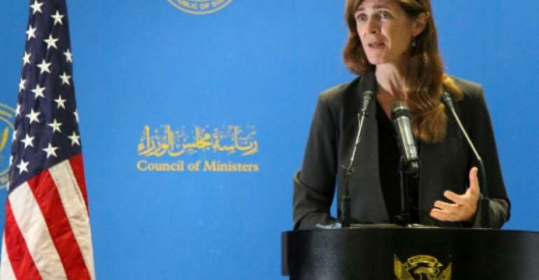 USAID chief Samantha Power wrapped up a four-day visit to Sudan on Tuesday calling for the army to unify, including to incorporate former rebel groups.  By Ebrahim Hamid (AFP)