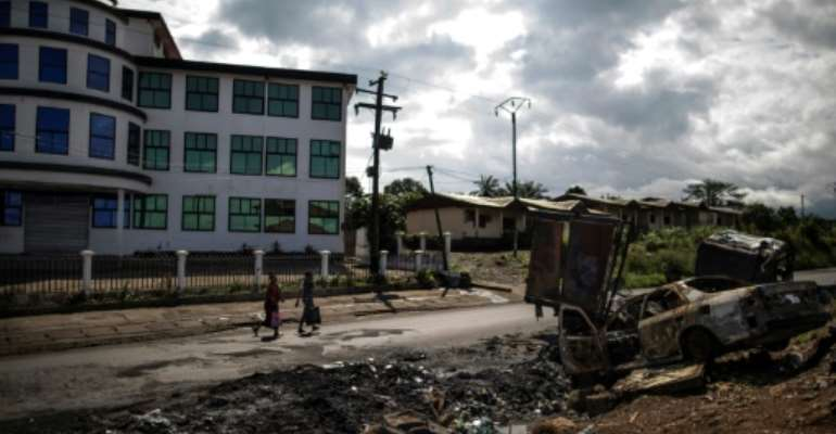 Violence: The aftermath of an attack in Buea, the capital of Cameroon's Southwest Region, in October 2018.  By MARCO LONGARI (AFP/File)