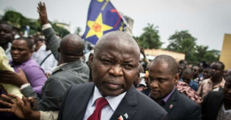 Vital Kamerhe has been a powerful player on DR Congo's political scene for two decades.  By FEDERICO SCOPPA (AFP/File)