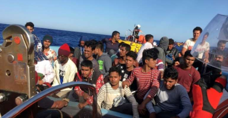 War-torn Libya is a key route for migrants seeking to make dangerous bids to reach Europe by sea.  By Shahzad ABDUL (AFP/File)