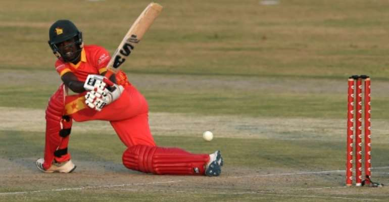 Wesley Madhevere top scored for Zimbabwe with 73 in a Twenty20 international against Bangladesh in  Harare on Friday.  By Aamir QURESHI (AFP)