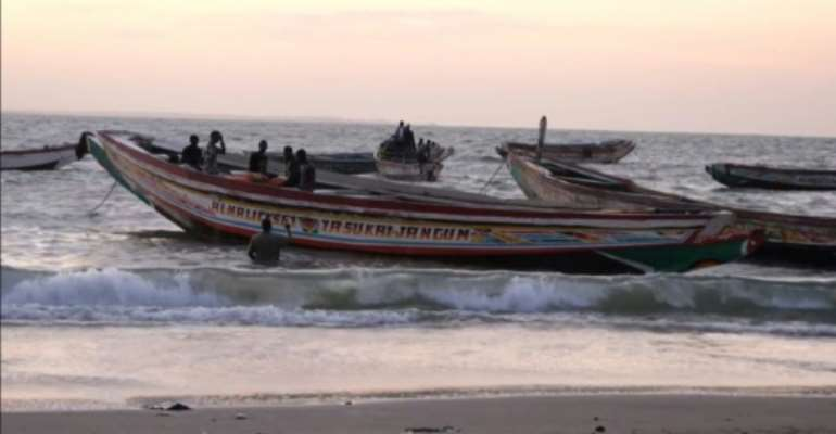 West African migrants seeking to cross to the Canary Islands typically travel in small wooden boats like these.  By Romain CHANSON (AFP/File)