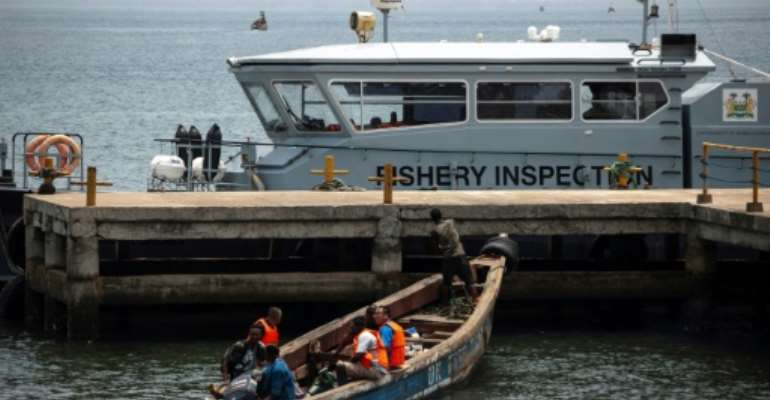 While it has only one deep-sea boat, the Joint Maritime Commission has increased patrols from once a week to every day.  By Saidu BAH (AFP/File)