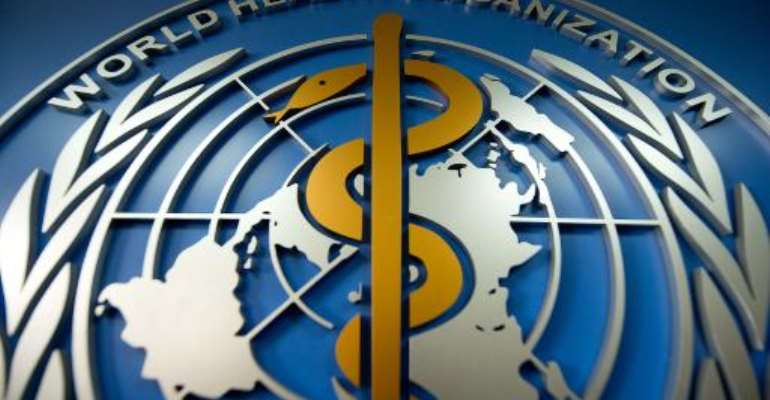 A World Health Organisation (WHO) logo is displayed at their office in Beijing on April 19, 2013.  By Ed Jones (AFP/File)
