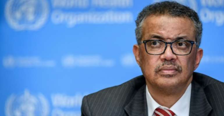 WHO head Tedros Adhanom Ghebreyesus, pictured, has been accused by Ethiopia's army chief of trying to get weapons for the dissident Tigray region.  By Fabrice COFFRINI (AFP/File)