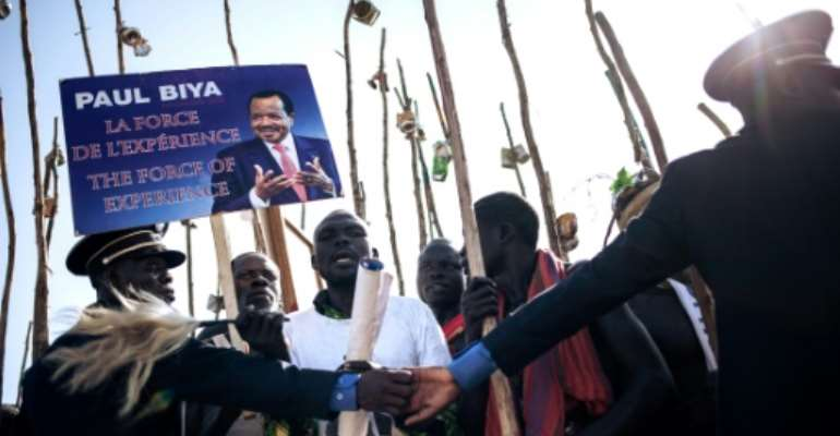 With more than 1.2 million of Cameroon's 6.6 million voters, the far north is the country's most populous yet poorest region -- a strategic target in this weekend's vote.  By ALEXIS HUGUET (AFP)
