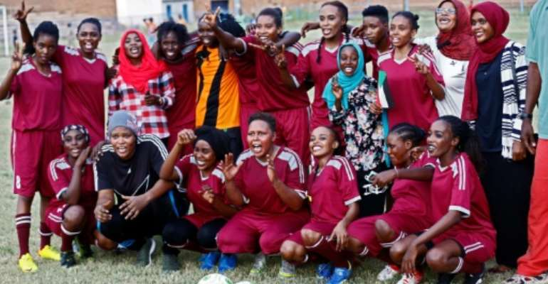 Women's football faced has faced an uphill battle in Sudan since the country adopted Islamic sharia law in 1983 but the country in September launched its first ever women football league.  By ASHRAF SHAZLY (AFP/File)