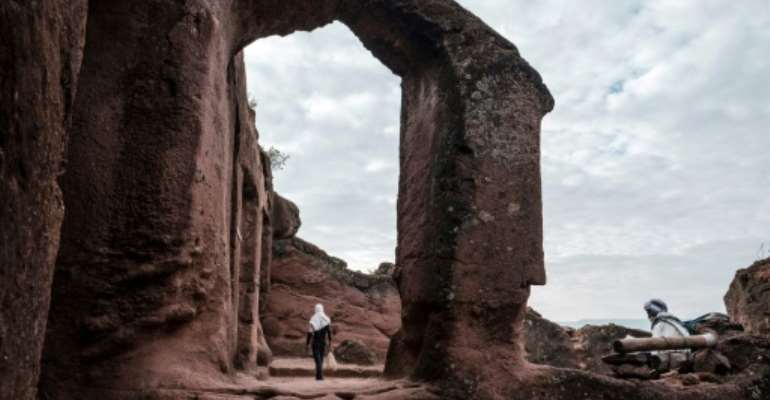World heritage: The church of St. Mercurius is one of Lalibela's rock-hewn treasures (2019 file picture).  By EDUARDO SOTERAS (AFP/File)