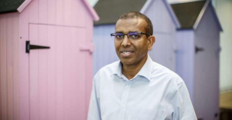 WorldRemit founder Ismail Ahmed.  By TOLGA AKMEN (AFP)