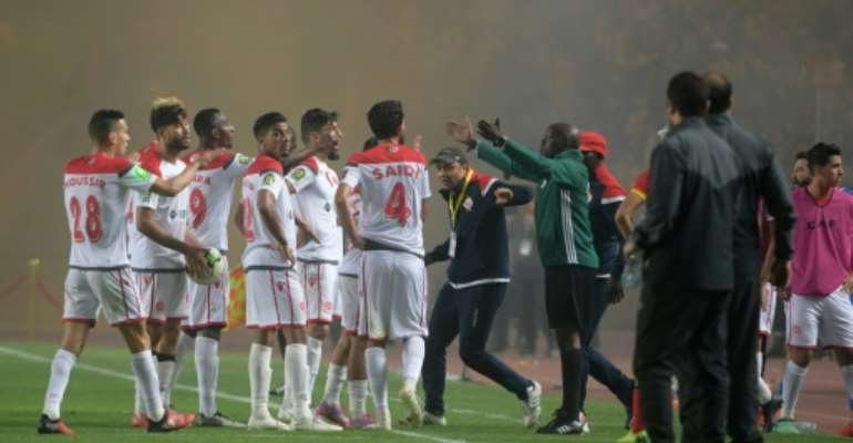 Wydad refused to continue playing after a second-half equaliser was disallowed.  By FETHI BELAID (AFP/File)