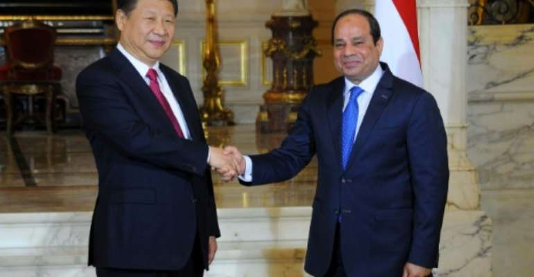 Chinese President Xi Jinping (left) held talks with Egypt's President Abdel Fattah al-Sisiand was to address the Cairo-based Arab League.  By Egyptian presidency. Photo / HO (Egyptian Presidency/AFP)