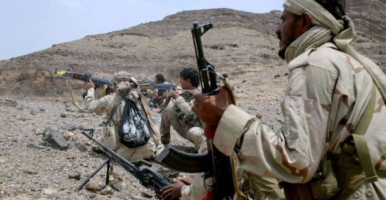 Yemeni forces loyal to the government of President Abedrabbo Mansour Hadi have struggled since the end of August to break the siege of Taez which the rebels have surrounded for more than a year.  By Abdullah Al-Qadry (AFP/File)