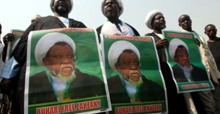 Zakzaky's supporters have been demonstrating almost daily for his release.  By SODIQ ADELAKUN (AFP)