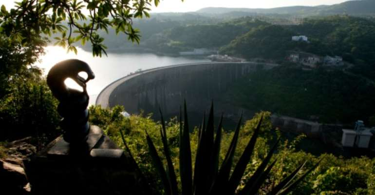 Hydroelectric-dependent Zambia has experienced erratic power supply in recent years due to poor rains and low water levels in the Kariba dam.  By Jekesai Njikizana (AFP/File)