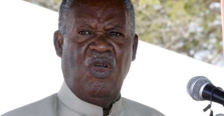 Zambia President Michael Sata delivers a speech on May 17, 2013 in Chongwe.  By Chibala Zulu (AFP/File)