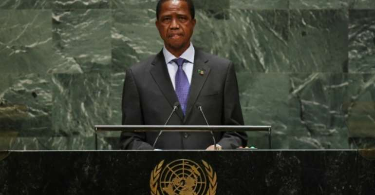 Zambia president Edgar Chagwa Lungu (pictured September 2019) is allegedly