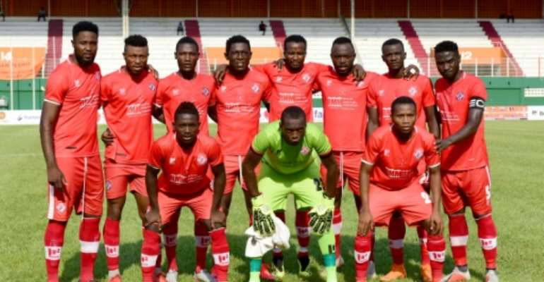 Zambian club Nkana pose before a CAF Confederation Cup playoff in the Ivory Coast two years ago.  By ISSOUF SANOGO (AFP/File)
