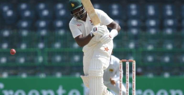 Zimbabwe batsman Hamilton Masakadza went into tea on day one of the second Test against West Indies in Bulawayo on 93.  By Ishara S. KODIKARA (AFP/File)