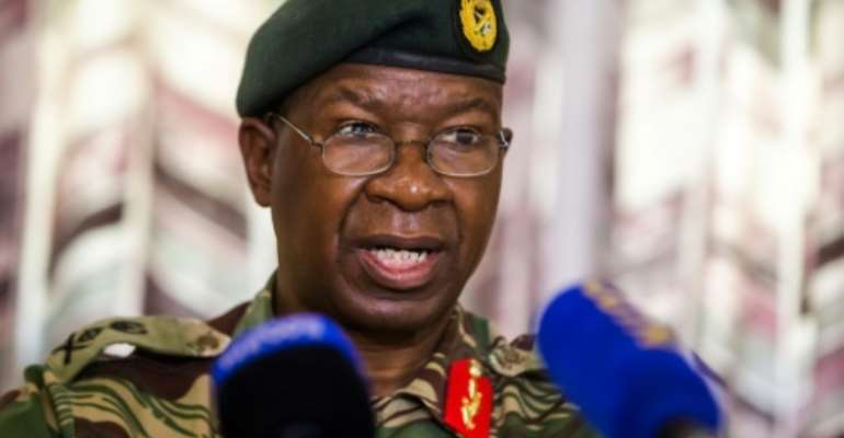Zimbabwe National Army commander Phillip Valerio Sibanda on Monday in Harare, where he asked citizens to remain alert for