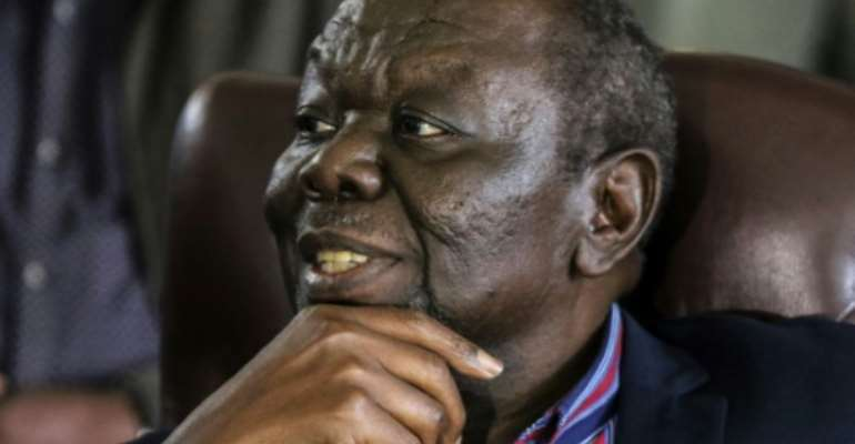 Zimbabwe opposition leader Morgan Tsvangirai is undergoing cancer treatment in neighbouring South Africa.  By - (AFP/File)