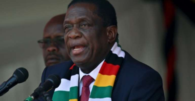 Zimbabwean President Emmerson Mnangagwa's government called for the protests.  By TONY KARUMBA (AFP/File)