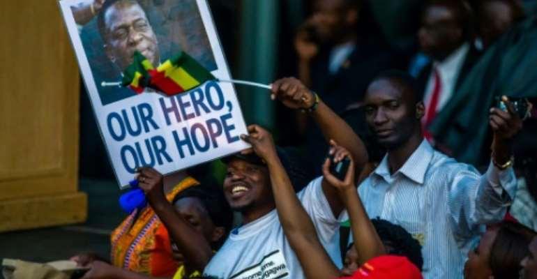 Zimbabwe's incoming president Emmerson Mnangagwa is due to be sworn in on Friday.  By Jekesai NJIKIZANA (AFP)