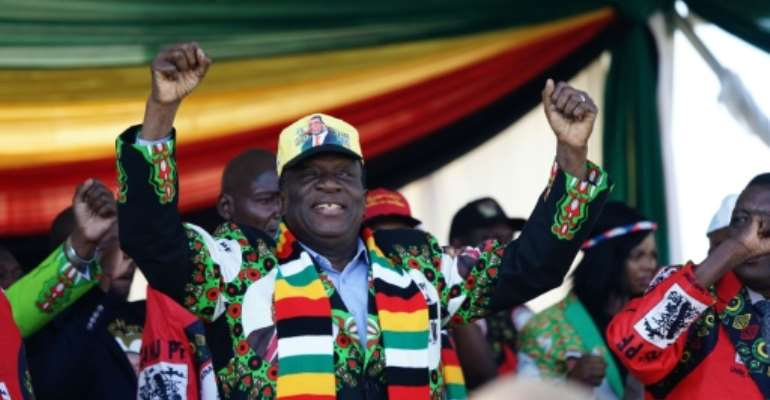 Zimbabwe's President Emmerson Mnangagwa said he was the target of the attack which injured dozens of people.  By ZINYANGE AUNTONY (AFP)