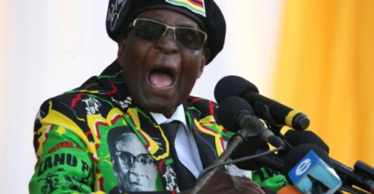 Zimbabwe's Robert Mugabe gained a further term in office thanks to a new constitution.  By ZINYANGE AUNTONY (AFP)