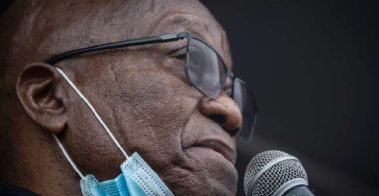 Zuma said jailing him during the pandemic would effectively be a death sentence.  By Emmanuel Croset (AFP)