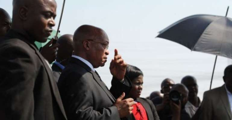 President Jacob Zuma denied claims the government gave the order to kill striking miners.  By  (AFP)