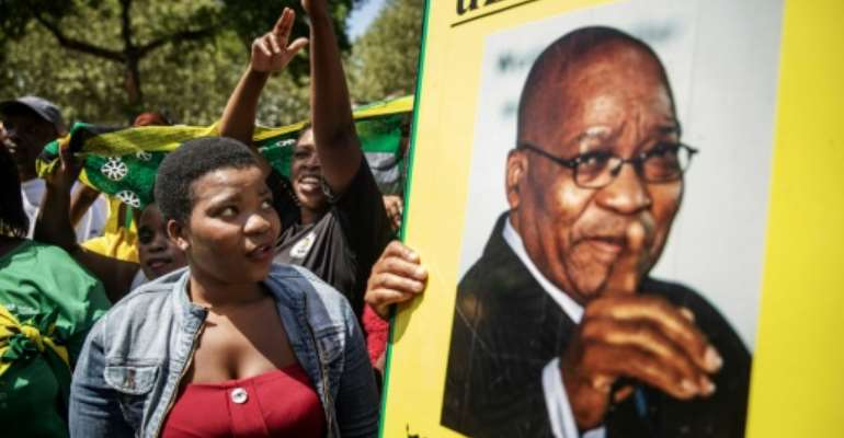 Zuma was forced to resign in 2018.  By Michele Spatari (AFP/File)