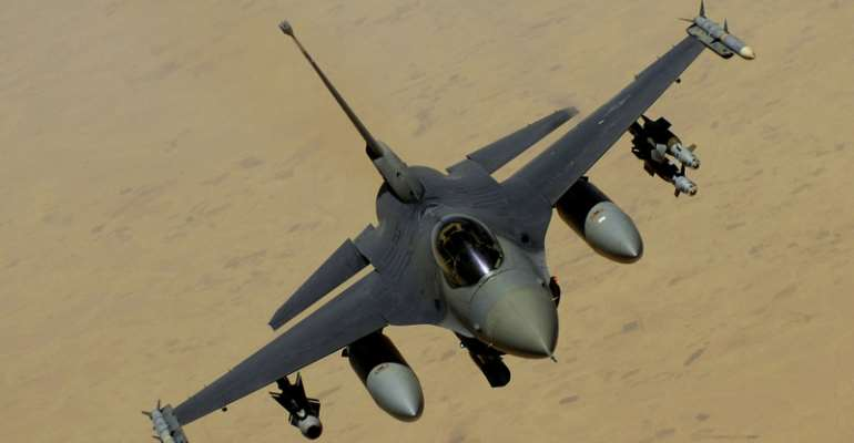 United States Manufactured F-16 Moroccan Fighter Plane Shot Down Over Yemen